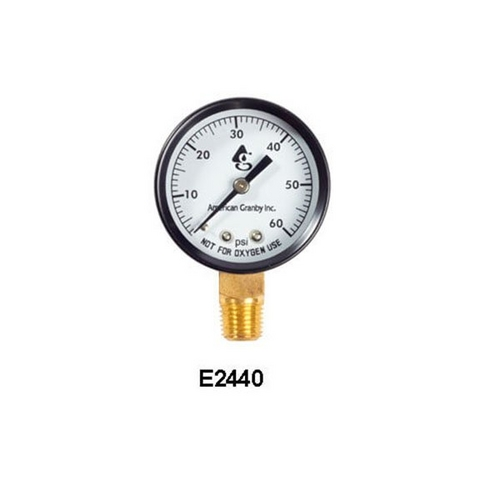 "American Granby - Pressure Gauge, 1/4""mpt, 0-60psi, Bottom Mount"