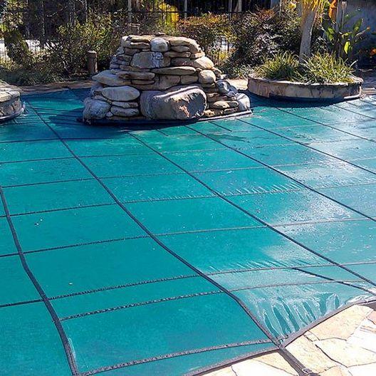 GLI  Original Mesh 12 x 24 Rectangle Inground Pool Safety Cover Green 12 Yr Warranty