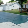 16' x 32' Rectangle Mesh Safety Cover with 4' x 8' Center Step