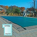 In The Swim Mesh Safety Cover 18x36 ft Rectangle with Left Step