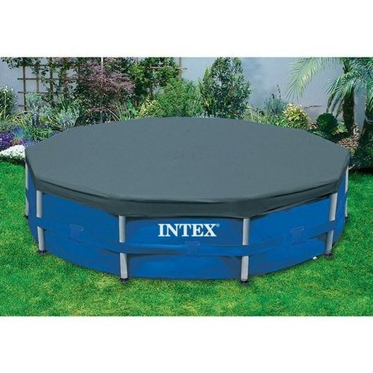12 Ft Round Pool Cover for Metal Frame Pools