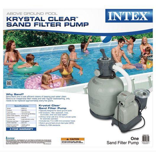 Intex  14 inch Krystal Clear Sand Filter Pump