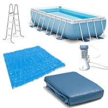 Intex - Prism Frame 16' x 8' Rectangle Pool Package