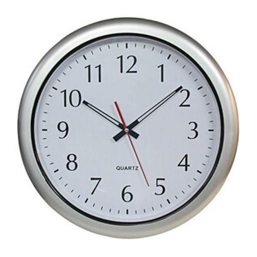 Silver Series 16 inch Clock