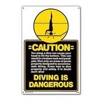 Caution - Diving Is Dangerous Sign