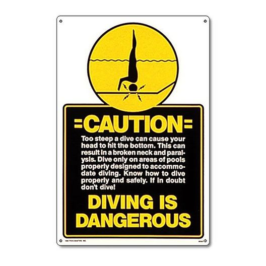 poolmaster - Caution - Diving Is Dangerous Sign - 400720