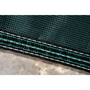 Aqua Master 20 x 40 Solid Safety Cover - Rectangle with Center Step Green