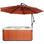 10 Ft Market Hot Tub Umbrella, Rust