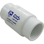 PVC Check Valve, 1.5in Skt or 2in Spg, 5 Lb, Spring
