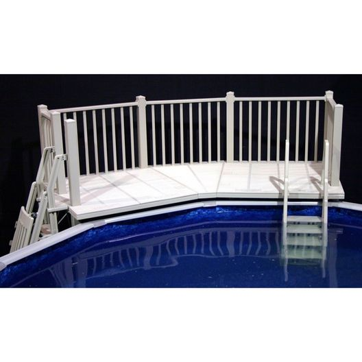 Vinyl Works Of Canada  FD-T Above Ground Pool Fan Deck System 5 x 13.5'
