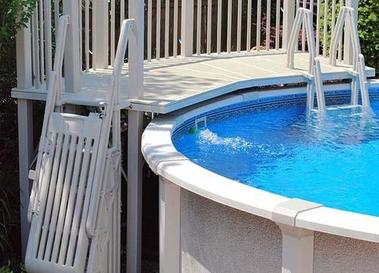 A picture of above ground pool accessories
