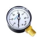 Swimline  Pressure Gauge  2 in  0-60 psi 1/4 in Bottom Mount  Plastic Case