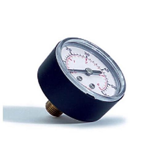 Swimline - Pressure Gauge - 2 in. - 0-60 psi, 1/4 in. Back Mount - Steel Case