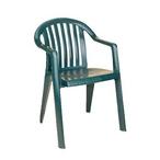 Miami Lowback Resin Chair, Amazon Green