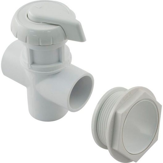Diverter Valve, Hydroflow, 2-port, 1 inch Socket, (2-1/16 inch hole required), White