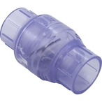 Inline Check Valve, 1-1/2in Slip Socket, PVC, 0821-15