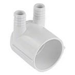 Manifold, 2 inch S x Dead End x (2) 3/4 inch RB
