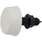 Air Button, Surface Mount Mushroom, White #6439