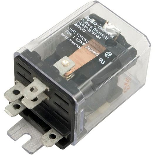 Potter  Brumfield  Ice Cube Style Power Relay SPDT 5-Pin 24VDC Coil 30A