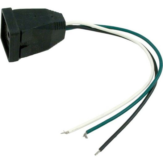Spa Light Standard J&J Black Receptacle, Female Plug for Light
