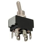 Toggle Switch, 6 Terminals On-On DPDT, 120V, 20A