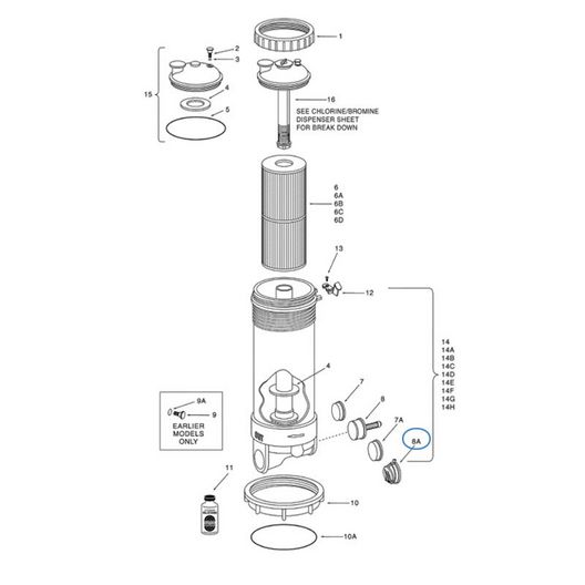 Pentair  By-pass assy 1-1/2 low flow