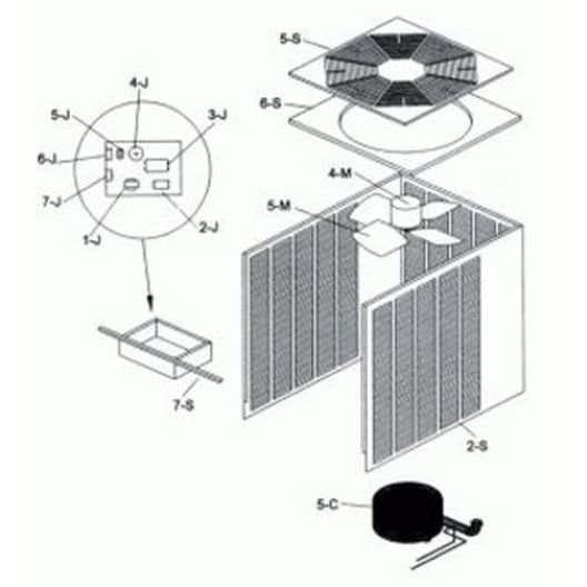 Raypak  Compressor Capacitor 1 Phase RHP072