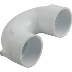 PVC Sweep 180 Degree U-Bend Coupling, 2in X 2in Slip Socket