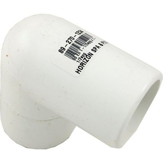 Spa Components  PVC 90 Degree Elbow 1.5in X 1.5in Slip Spigot