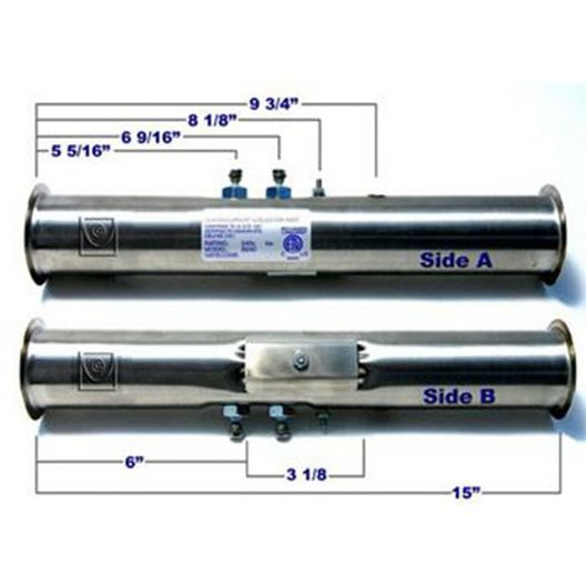 Spa Components  Gecko S-Class 5.5 kW FloThru Hot Tub Heater 15in x 2in Gen 2