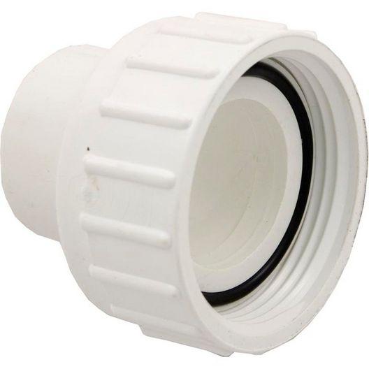 Pump Union Assembly, 1-1/2 inch Female B Thread (2-1/2 inch OD) x 1-1/2 inch Socket, w/ o-ring