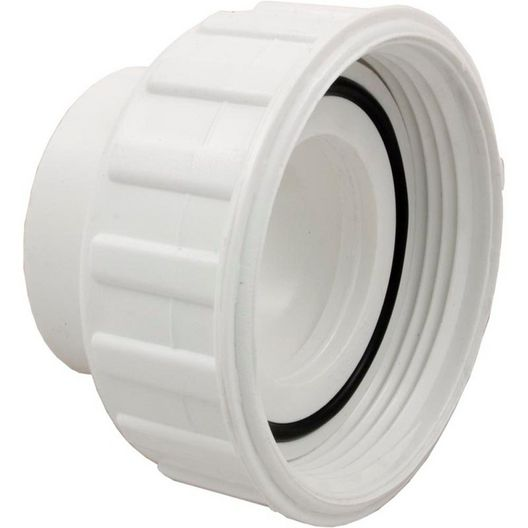 Pump Union Assembly, 2 inch Female B Thread (3 inch OD) x 2 inch Socket, w/ o-ring