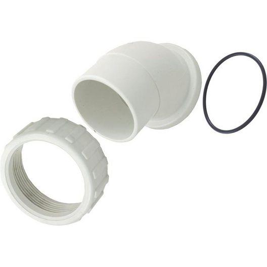 Spa Components  Pump Union Assembly 2 inch Female B Thread (3 inch OD x 2 inch Spigot 45 degree w o-ring