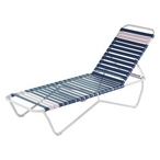 Economy Commercial Grade Vinyl Strap Chaise Lounges - Sets of 6
