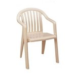 Grosfillex - Miami Lowback Resin Chair, Sandstone - 404331