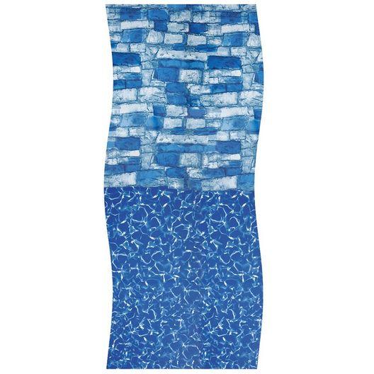 Swimline - Overlap 12' x 24' Oval 48/52 in. Depth Blue Stone Above Ground Pool Liner, 20 Mil - 404349