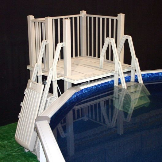Vinyl Works Of Canada - SD-T Above Ground Pool Deck System 5' x 5' - 404414