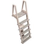 6000X Adjustable Heavy Duty Above Ground Pool Ladder for Decks, Warm Grey