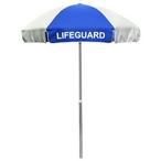 California Umbrealla - 6' Lifeguard Logo Umbrella Blue and White - 404550