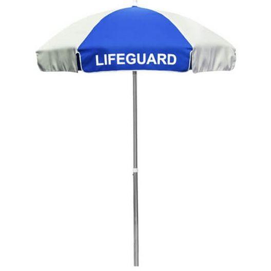 6' Lifeguard Logo Umbrella Red and White