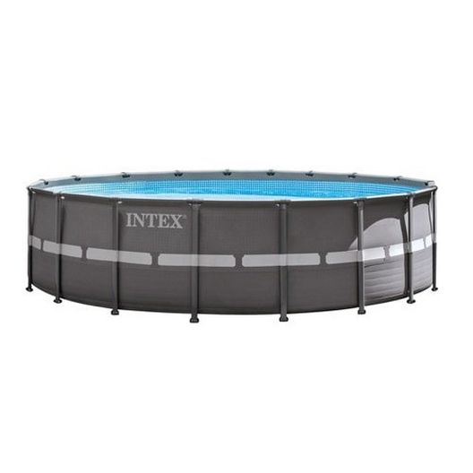 "Intex - Ultra Frame 18' x 52"" Round Metal Frame Above Ground Pool Package - 404862"