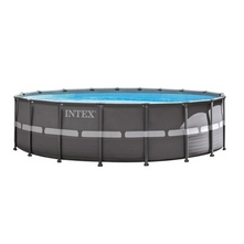 "Intex - Ultra Frame 18' x 52"" Round Metal Frame Above Ground Pool Package"