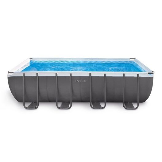Intex - Ultra Frame 9' x 18' Rectangle Metal Frame Above Ground Pool Package - 404863