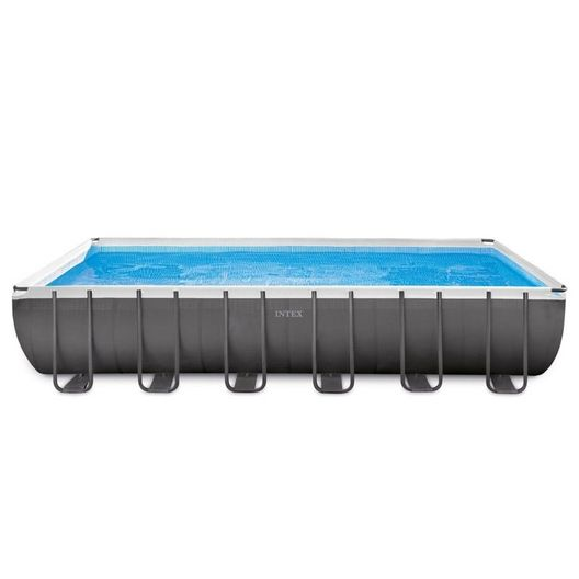 Intex - Ultra Frame 12' x 24' Rectangle Metal Frame Above Ground Pool Package - 404864