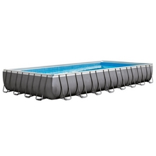 Intex - 16' x 32' Rectangle Metal Frame Above Ground Pool Package 26371EH