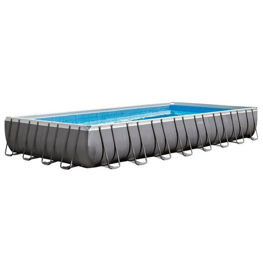 Intex - 16' x 32' Rectangle Metal Frame Above Ground Pool Package - 404865