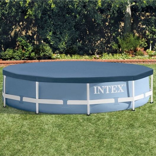 Intex - Above Ground Pool Cover for 10ft Round Metal Frame Above Pools - 404914