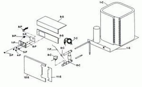 Raypak - 14 Pin Plug and Harness