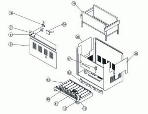 Pentair - Burner Tray Assembly 150 Propane Millivolt