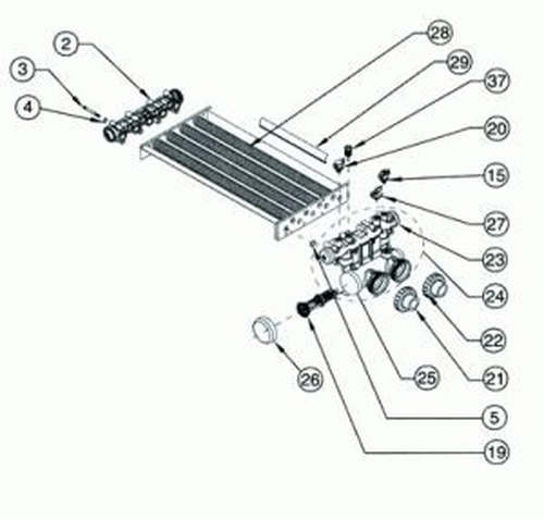 Pentair - Heat Exchanger Only, Model 350